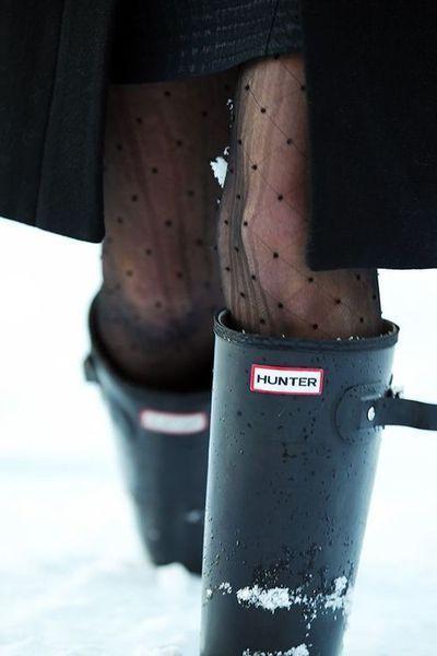 Sneeuw? Dan trek je natuurlijk panty's aan!